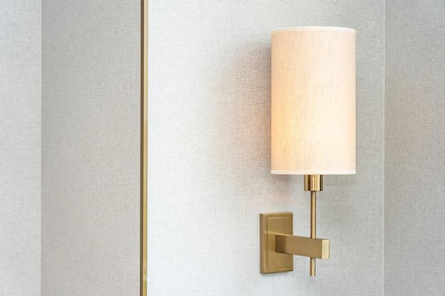Lámpara de luz eléctrica decoración interior de dormitorio