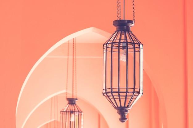Lámpara de luz vintage estilo marruecos arquitectura