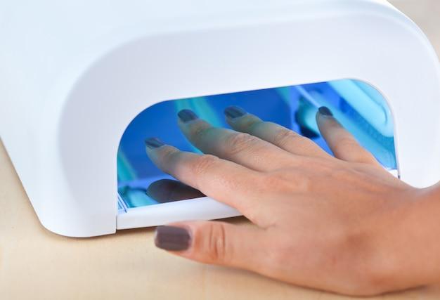 Lampara ultravioleta para uñas.