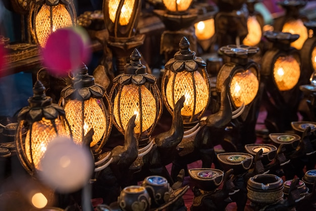 Lámparas hechas a mano de tailandia