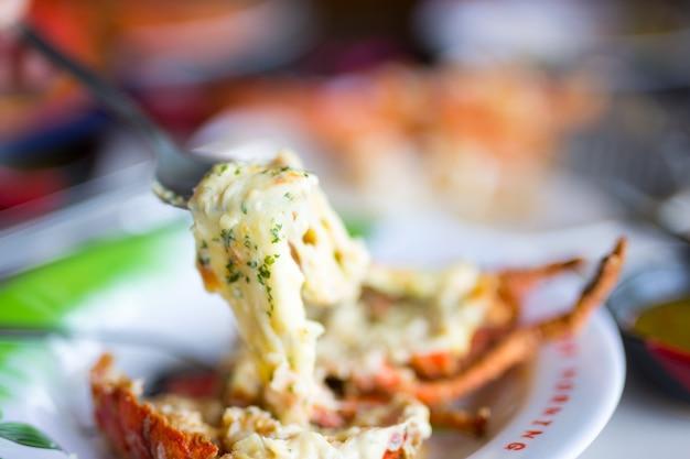 Langostino de camarones al queso
