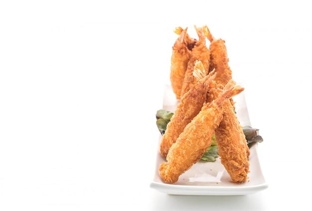 Langostinos fritos en blanco