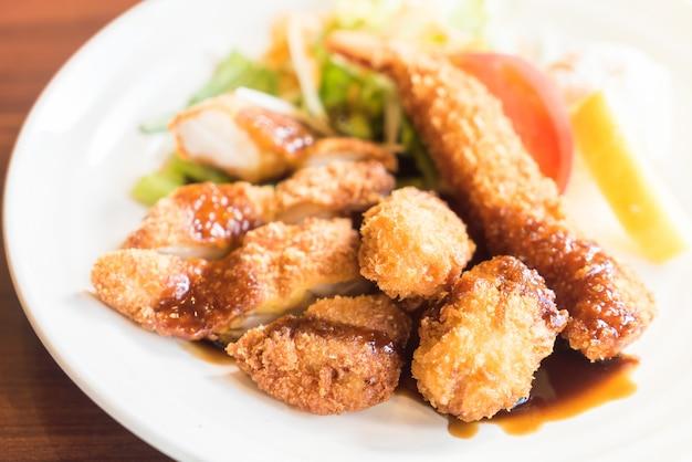 Langostinos tempura