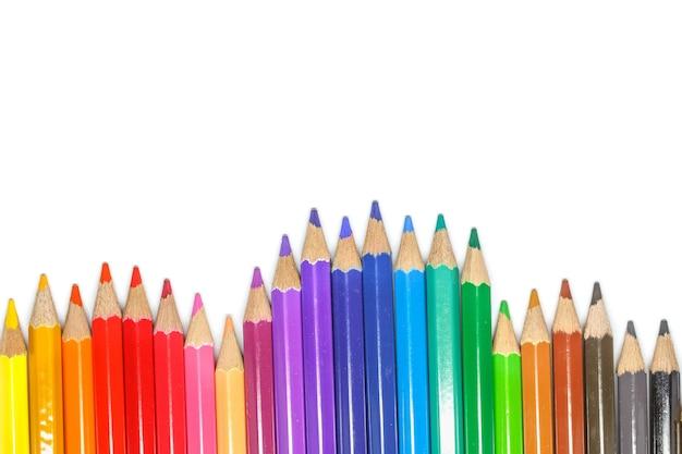 Lápices de colores, aislados en blanco.
