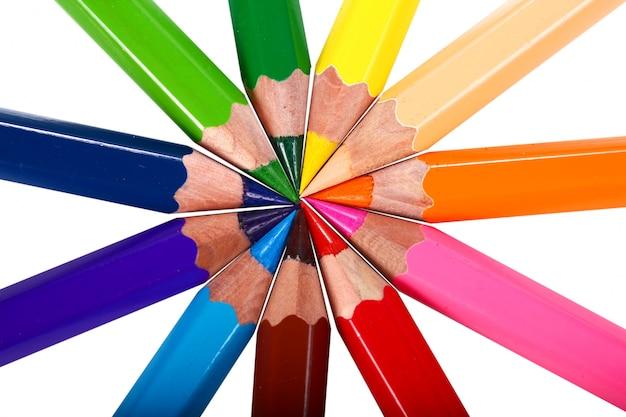 Lápices de colores de crayones