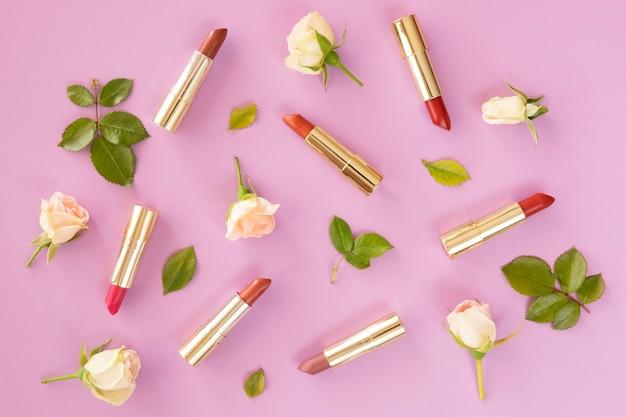 Lápiz labial de cosméticos de belleza