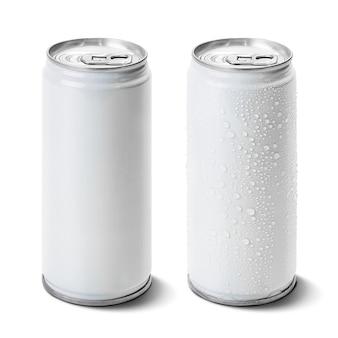 Lata de aluminio aislada