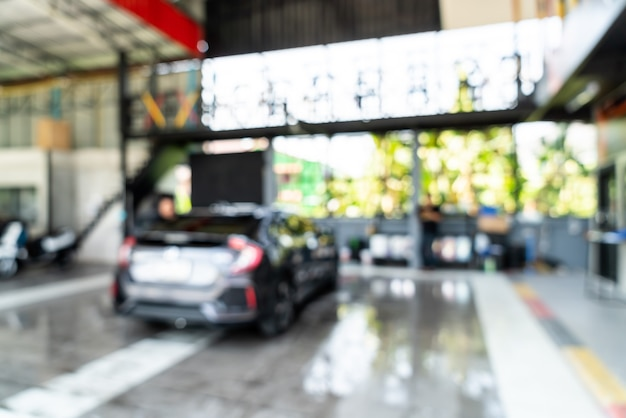 Lavado de coches desenfoque abstracto en el cuidado del coche