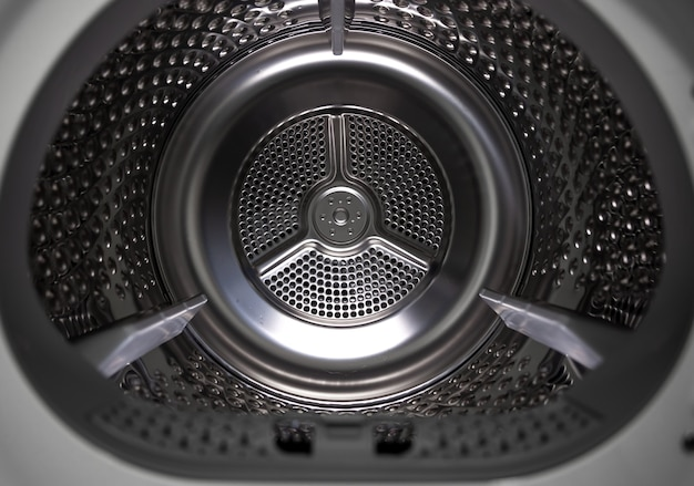 Lavadora secadora vista interior de un tambor.