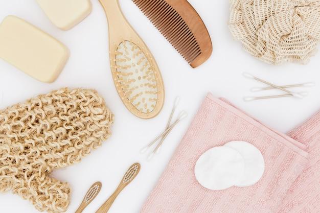 Lay flat de accesorios de baño concept
