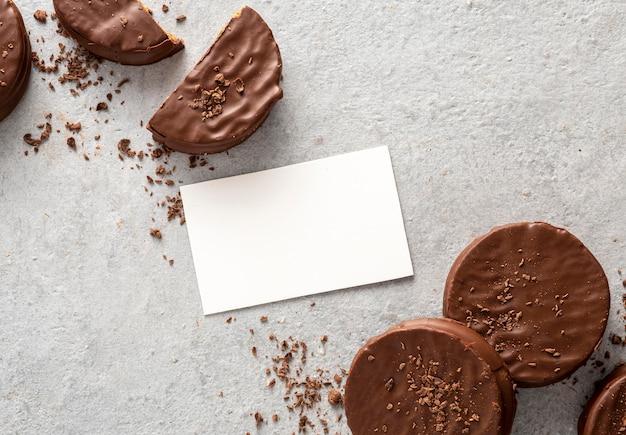 Lay flat de alfajores cookies con espacio de copia