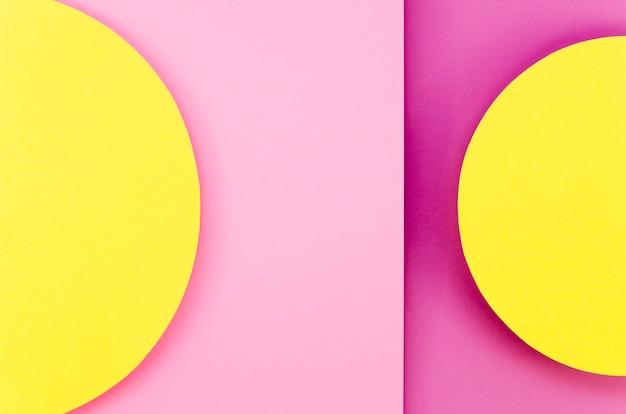 Lay flat de círculos de papel de colores