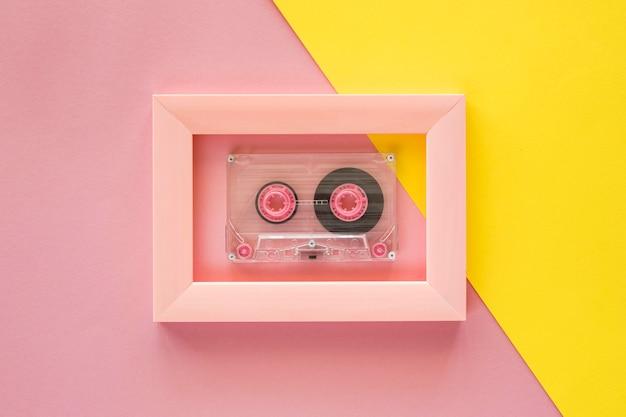 Lay flat del concepto de música con espacio de copia