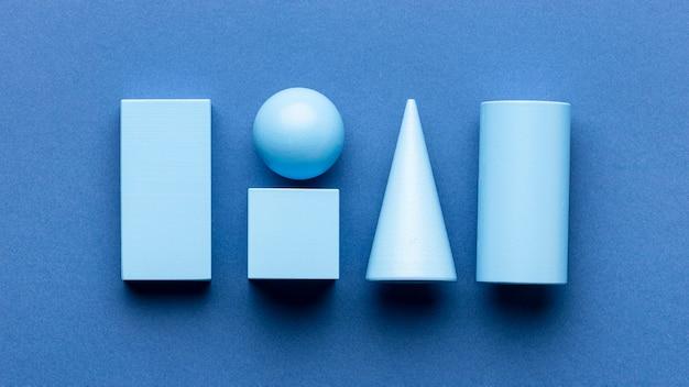 Lay flat de figuras geométricas