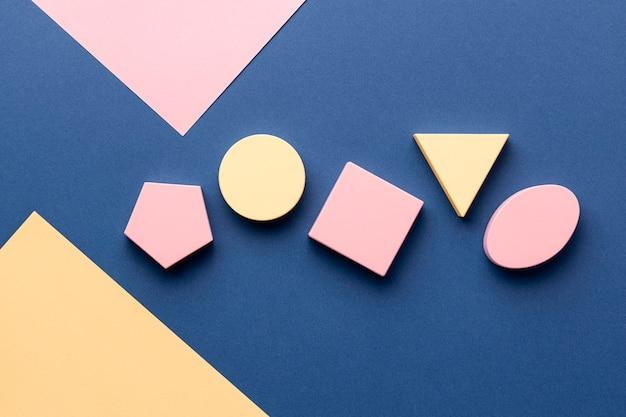 Lay flat de formas geométricas