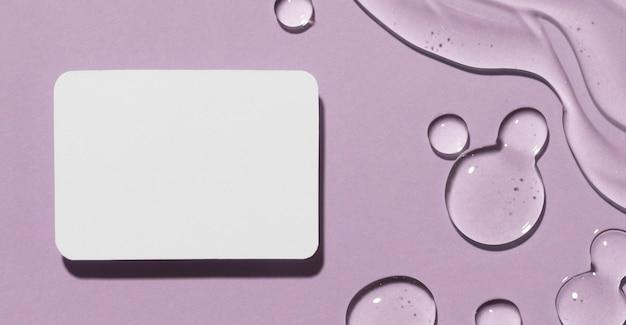 Lay flat de gel hidroalcohólico con espacio de copia y tarjeta