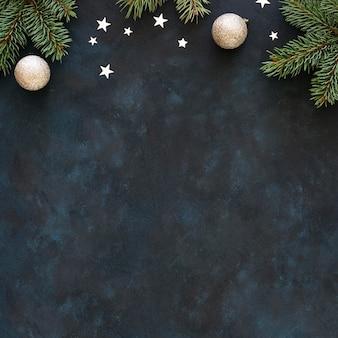 Lay flat del hermoso concepto de navidad
