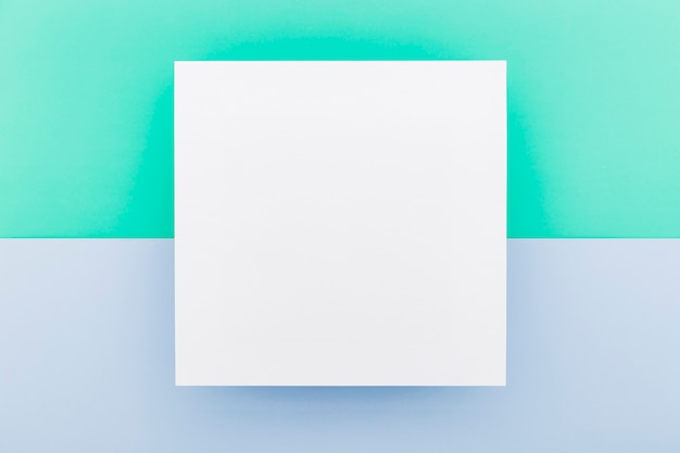 Lay flat de papel de menú en blanco