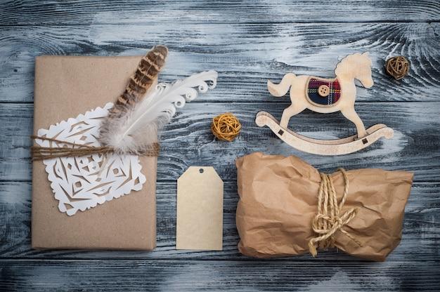 Lay flat con regalos de navidad.
