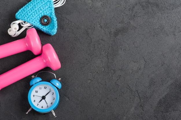 Lay flat con reloj azul alam