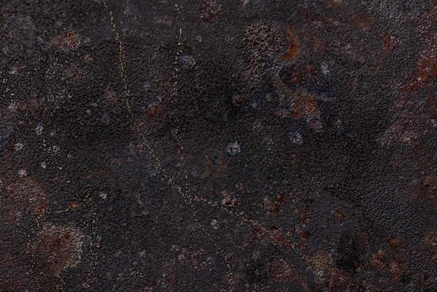 Lay flat de superficie metálica oxidada