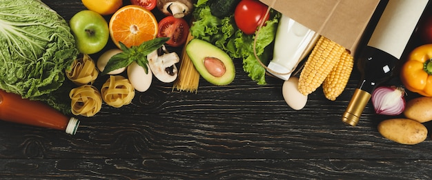 Lay flat en varios productos alimenticios.