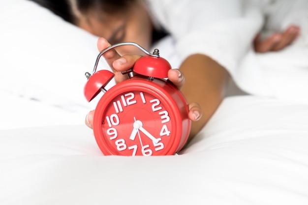 Lazy despertar en la mañana.