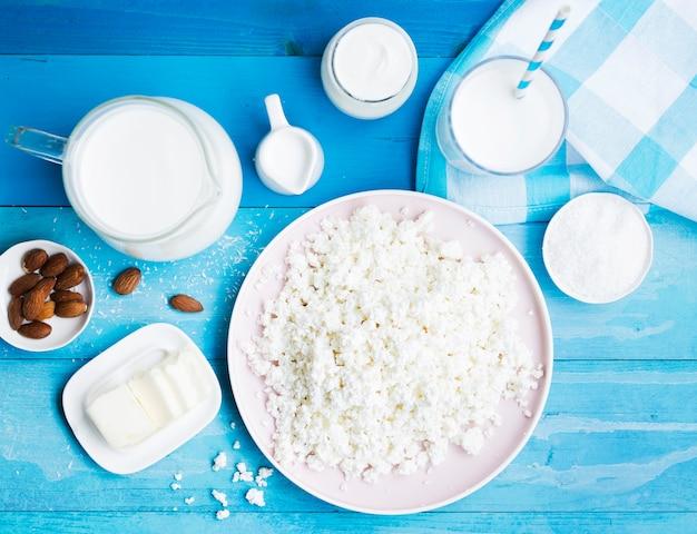 Leche, requesón y productos lácteos
