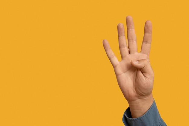 Lenguaje de señas con espacio de copia