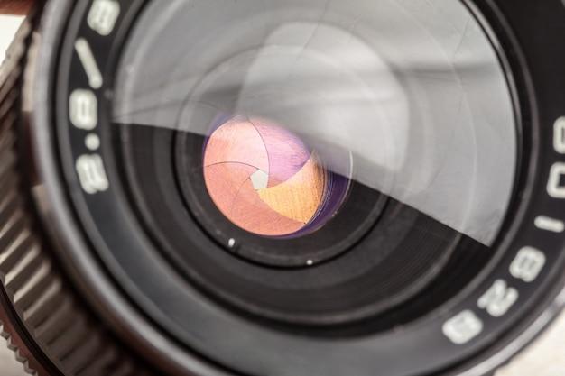 Lente de la cámara de cerca