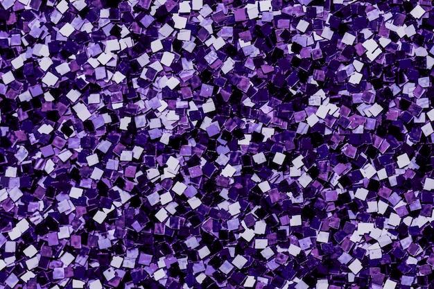 Lentejuelas violetas brillantes con textura