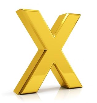 Letra dorada x