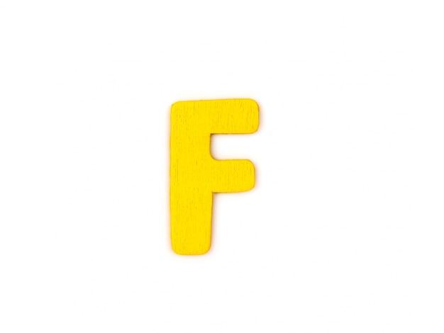 Letra f amarilla