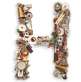 Letra mecanica aislada h