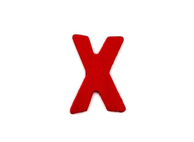Letra x hecha de madera