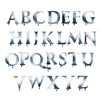 Letras del alfabeto acuarela