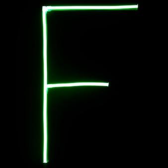 Letras de alfabeto de luces de neón verdes