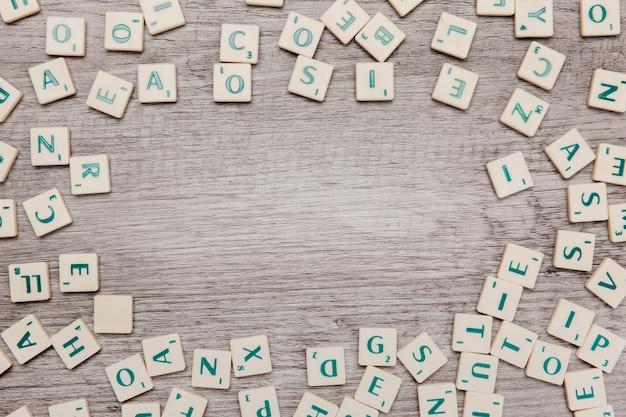 Letras con espacio en medio