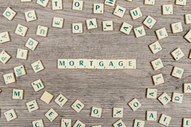 Letras formando mortgage