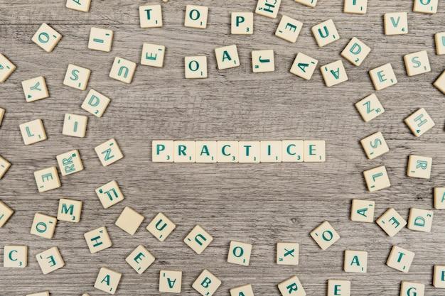 Letras formando practice