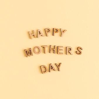 Letras de madera feliz dia de las madres.