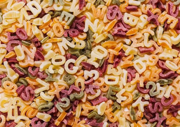 Letras de pasta