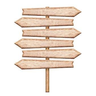 Letrero de madera aislado en blanco