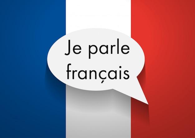 Letrero hablando francés