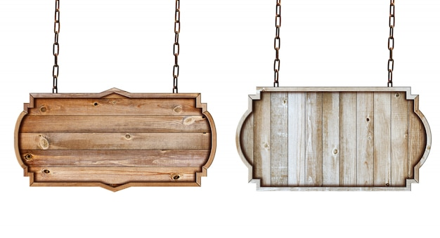 Letrero de madera marco frontera vintage etiqueta diseño