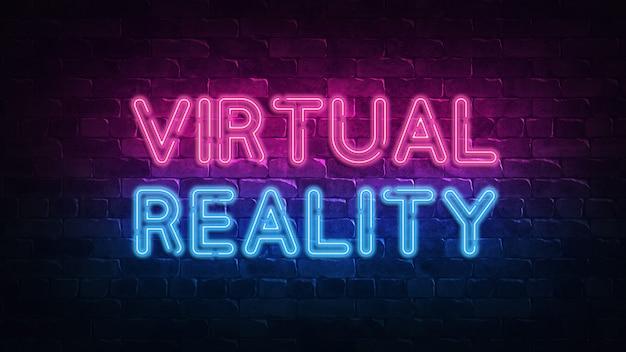 Letrero de neón de realidad virtual