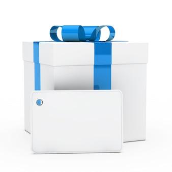 Letrero vacío con una caja de regalo