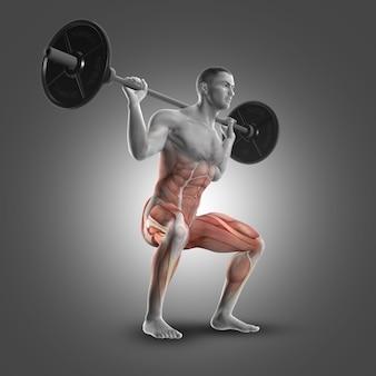 Levantando pesas con las piernas