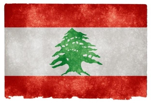 Líbano bandera del grunge