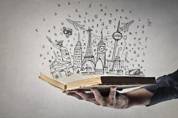 Libro lleno de lugares
